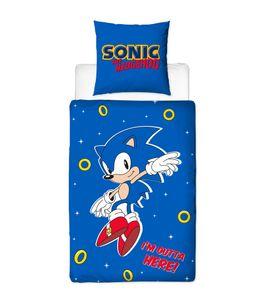 Sonic The Hedgehog Bettwäsche 80x80 + 135x200 cm - 100% Baumwolle