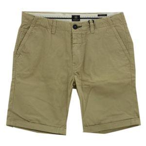 23639 Dstrezzed, Casual Cool,  Herren kurze Jeans Shorts Bermudas, Denim ohne Stretch, sand, 32W