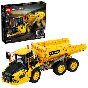 LEGO 42114 Technic Knickgelenkter Volvo-Dumper (6x6), ferngesteuertes Auto, Konstruktionsfahrzeug