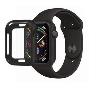 AVANA Schutzhülle für Apple Watch Series 6 / 5 / 4 / SE 44mm Hülle Silikon TPU Case iWatch Cover Schwarz