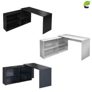 ecoMI - Eckschreibtisch Schreibtisch Computertisch Bürotisch Arbeitstisch - Weiß