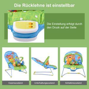 GOPLUS Babywippe, Babywiege, Schaukelwippe, Schaukelsitz, Babyschaukel, Babysitz mit Vibrationsfunktion, Musikbox Giraffe