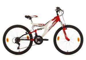 KS Cycling Kinderfahrrad 24'' Zodiac weiß-rot RH 38 cm