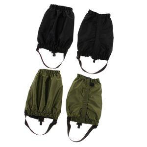 2 Paar wasserdichte Outdoor-Wander-Gamaschen Gamaschen schwarz Armeegrün 25 cm Schwarzes Armeegrün