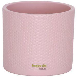 Keramik Blumentopf Toscana silber rosa matt Ø 13.5 cm H 12.5 cm