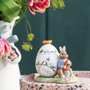 VILLEROY & BOCH Bunny Tales Osterei-Dose Max mit Möhre Deko 11x6,5x9,5 cm bunt