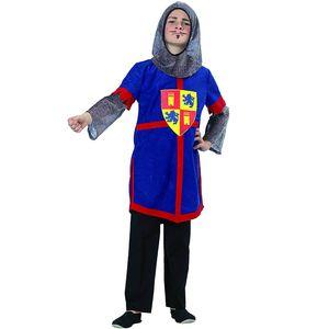 Kinder Ritter Kostüm (Tunika mit Kettenhaube) Gr.140 (8-9  Jahre)