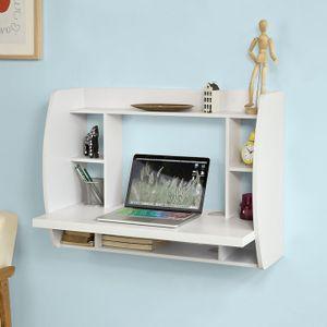 SoBuy Wandtisch,Schreibtisch,Computertisch,Bücherregal, FWT18-W