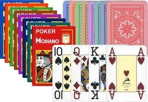 Modiano Spielkarten 482 - Poker Cristallo 4 Index rot