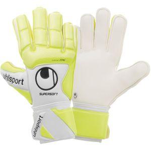 uhlsport Pure Alliance Supersoft Torwart Handschuhe - weiß/gelb 6