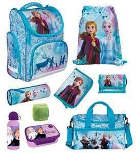 Disney Eiskönigin Mädchen Schulranzen Set 9tlg. Sporttasche Frozen 2 Elsa türkis