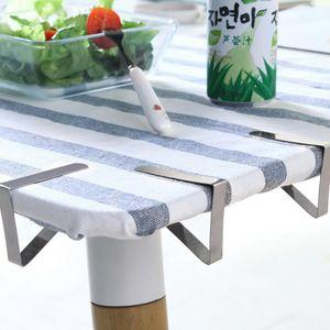 6pcs Tischtuchklammern Tischabdeckungsklemmen Tischdecke Clips aus Edelstahl