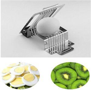 Eierschneider, Edelstahl Eierschneider Eierfruchtpilz Tomaten Schnellschneider für hart gekochte Eier