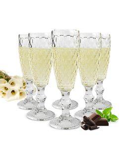 6 Sektgläser 200ml auf Fuß Beate Sektkelche Champagner Prosecco Sektglas Proseccoglas