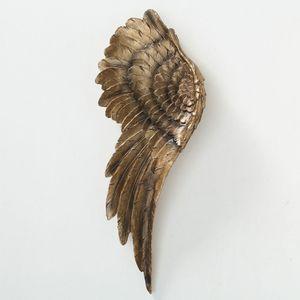 2er Set Engelsflügel, Wandobjekt, Kunstharz, gold H 54 cm