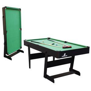 Cougar Hustle L Billardtisch 5ft in Schwarz / Grün | Pooltisch klappbar inkl. Zubehör | Tischbillard für Kinder und Erwachsene | Indoor Pool / Billard Tisch
