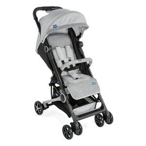 Chicco Miinimo 2 Kindersportwagen, mit Frontbügel ultrakompakter Kinderwagen, empfohlen ab Geburt, Einhand-Faltmechanismus, Silber, 07079444490000