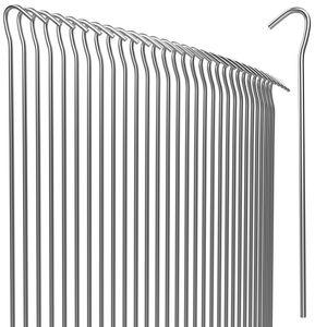 Heringe Erdnagel Ø 3,5mm Stahl verzinkt Bodenanker, Anzahl:50er Set