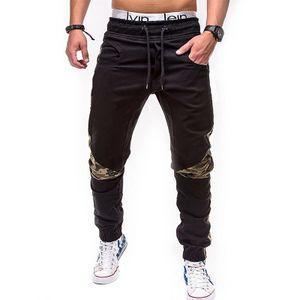 Morydal Herren Tarnhose Elastische Taille Sporthose Jogginghose Fitness Sporthose,Farbe: Schwarz,Größe:M