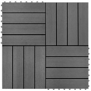 vidaXL 22 Stk. Terrassenfliesen 30 x 30 cm 2 qm WPC Grau