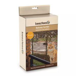 Beeztees Katzenschutznetz für Balkone Transparent 8x3 m 41084