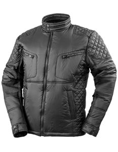 Herren Biker-Style Jacket - Farbe: Black - Größe: 4XL