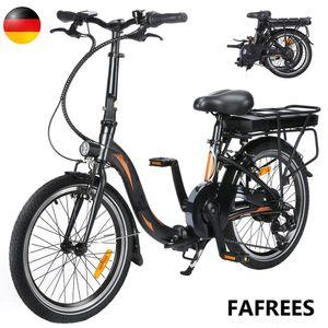 250W 36V 10AH Faltbares Ebike E-Bike Mountainbike Faltbares E-Bike Leistung 25 km / h Trekkingrad bis 120 kg-Schwarz