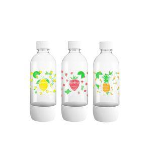 Sodastream 3000036 Plastikflaschen, 1 l, Gelb, Rot, Orange, 3 Stück