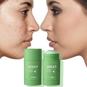 2 Stück Grüner Tee Purifying , Clay Stick Maske Ölkontrolle Gesichtsmaske, Stick Deep Cleansing Anti-Akne-Maske Fine,akne cleansing solid maske