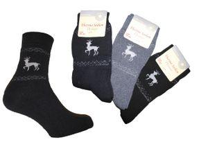 3 Paar Damen Thermo-Socken, Farbe: dunkelblau. grau. schwarz, Gr. :39/42