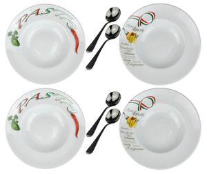 Pastateller (italienisches Design) und Pastalöffel / Retsch Arzberg / Ø30cm / Porzellan / 4er Set