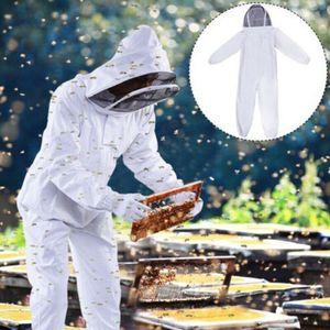 Imkerbekleidung Imkeranzug Imkerjacke Beekeepers Schutzanzug mit Mütze Schleier Größe : L