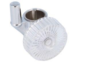 tecuro Zapfen-Schieber Halter für Wandstange Ø 18 mm verchromt