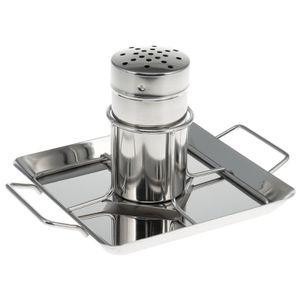bremermann Hähnchenbräter // mit Aromabehälter, aus Edelstahl ca. 24,5 x 18,5 cm // BBQ-Hähnchen Hähnchenhalter Geflügelbräter