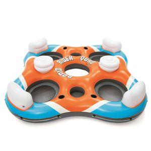 """Bestway CoolerZ  4-Personen Schwimmring mit Rückenlehne """"X4"""" 257 x 257 cm"""