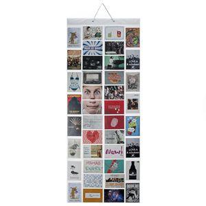 Fotovorhang XXL Bildervorhang Photo-Vorhang mit 40 Taschen für 80 10 x 15 cm Fotos Postkarten Motivkarten - Duschvorhang Fotogalerie