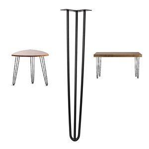 Hairpin Legs Haarnadelbeine Tischgestell Tisch Kufe 4er Set Schwarz (71cm) 372004