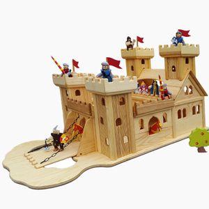 Ritterburg aus Kiefern Holz  Wertarbeit,Knight's Castle, Montessori, Waldorf,