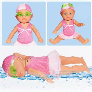 Wasserdichte Batterie Schwimmpuppe Badespielzeug Puppen für Kinderspielzeug