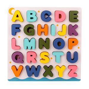 Holz Puzzles für Kleinkinder, große Alphabet ABC Ober Fall Brief und Anzahl Holz Montessori Lernen Bord Pädagogisches Spielzeug für Jungen Mädchen Farbe Alphabet