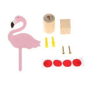 Flamingo Form Haken Kleidung Hut Jewwlry Aufhänger Handtuchhalter Kinderzimmer Wand Dekoration Farbe Rosa