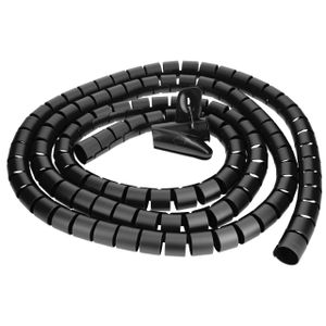 mumbi Kabelspirale, flexibler Kabelschlauch, universal Kabelkanal, 2,5m - Ø 25mm, in Schwarz