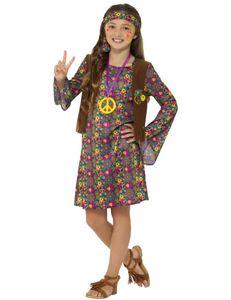 Kinder Kostüm Hippie Blumenkind Karneval Fasching Gr.M 7 bis 9 J.