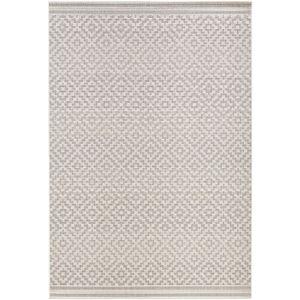In- & Outdoorteppich Raute Grau Creme | 102467, Größe:140x200