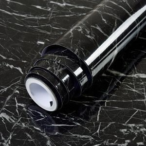 10m Marmor Muster wasserdicht Moistureproof Abnehmbare Selbstklebende Tapete Peel & Stick PVC Wandaufkleber fuer Wohnzimmer Badezimmer Kueche Arbeitsplatte 5 #