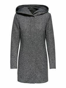 Only Damen-Woll-Mantel onlSedona Light Coat Otw 15142911, Größe:L, Farbe:Dunkelgrau