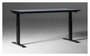 eModel 2.0 Schreibtisch elektrisch höhenverstellbar, Farbe und Größe wählbar, Größe Tischplatte:160 x 70 cm, Gestellfarbe:Schwarz, Farbe Tischkante:gleich Tischplatte, Farbe Tischplatte:Buche Natur