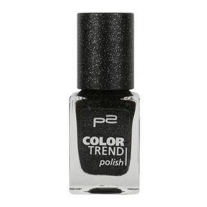 P2 Nägel Nagellack Nagellack Color Trend Nail Polish 833864, Farbe: 080 black sand, 10 ml
