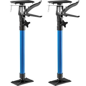 tectake 2 Türspanner, 51 bis 115cm - blau