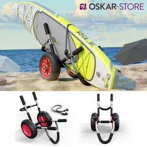 Oskar Transportwagen für SUP Stand Up Paddle Surfboard Transport Kajakwagen Alu